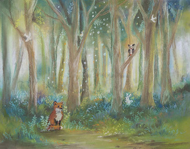 Oil Painting Forest Backdrop Child Background