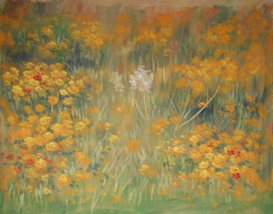 Yellow Flower Backdrop Oil Painting Background