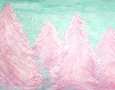 Oil Painting Background Pink Pine Backdrop