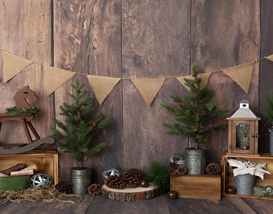 Vintage Wood Backdrop Christmas Background
