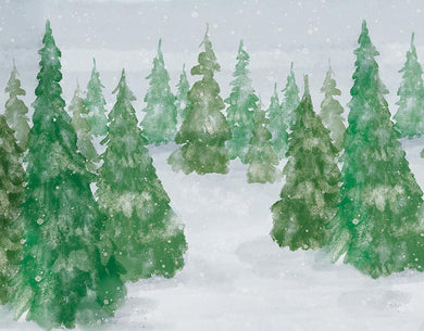 Forest watercolor background