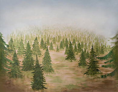 Forest oil painting background