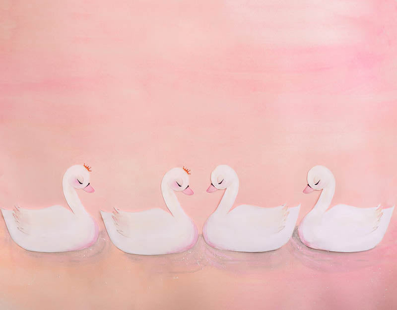 Swan Background Pink Backdrop