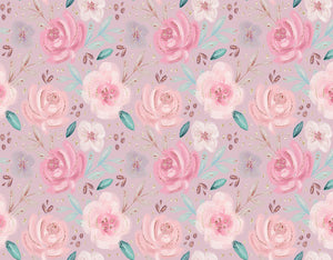 Pink Flower Background Glitter Backdrop