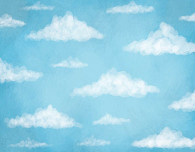 White Clouds Background Blue Sky Backdrop