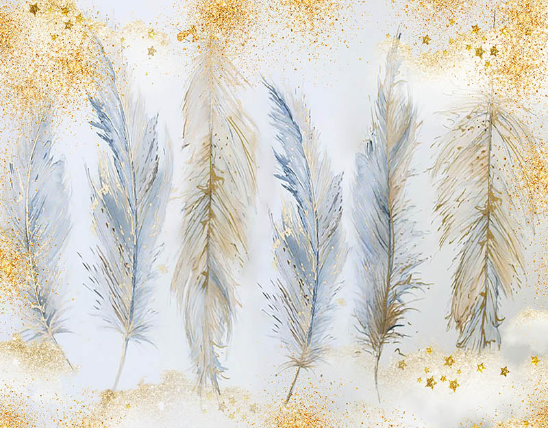 Feather Background Glitter Backdrop