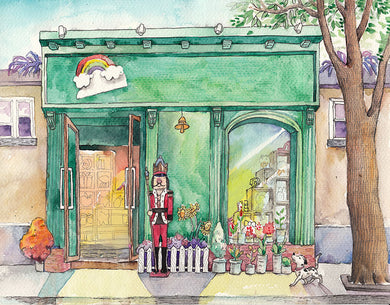 Royal Store Background Watercolor Painting Backdrop