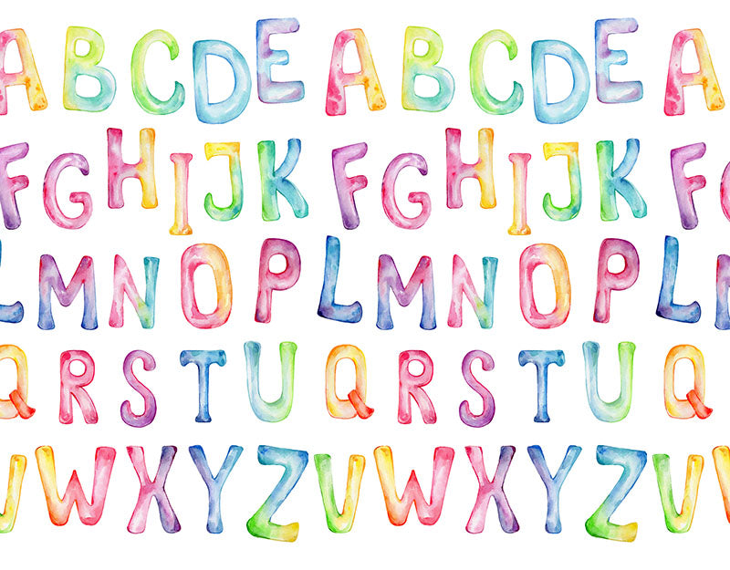 Colorful Alphabet Background