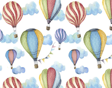 Colorful Hot Air Balloon Background
