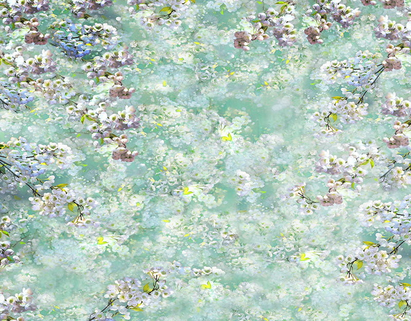 White Flower Background Fine Art Backdrop