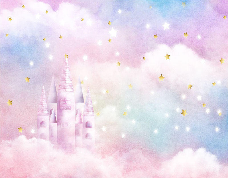 Castle Background Baby Cloud Backdrop