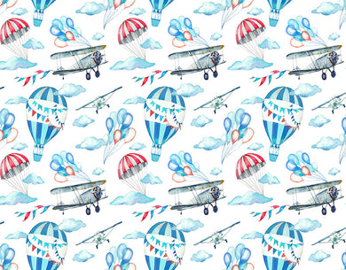 Airplane Hot Air Balloon Background