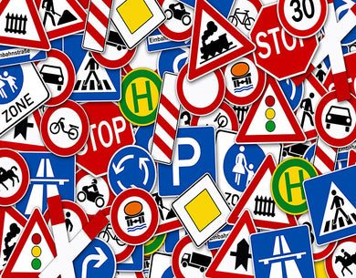 Traffic Warning Sign Background