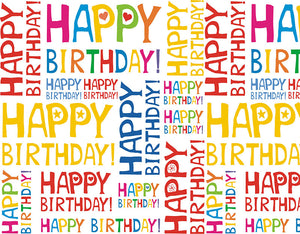 Happy Birthday Colorful Word Background Birthday Backdrop