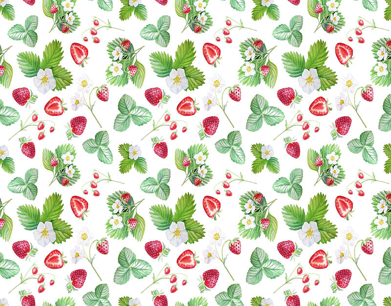 Strawberry Flower Background Strawberry Backdrop