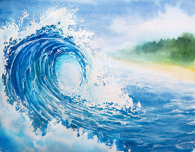 Sea Surf Background Oil Painting Backdrop
