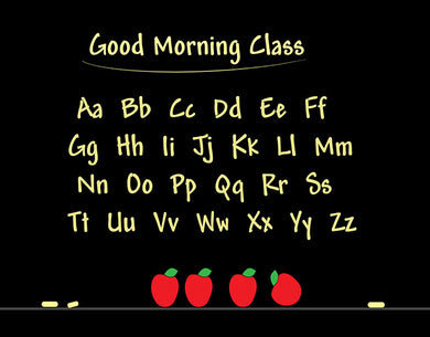 Morning Classroom Alphabet Background Black Backdrop