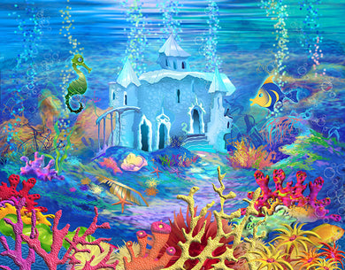 Undersea Palace Background Sea Animal Backdrop