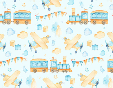 Color Train Background Kids Backdrop