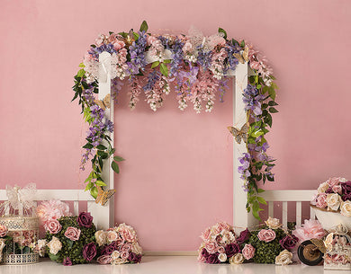 Pink Background Wedding Backdrop