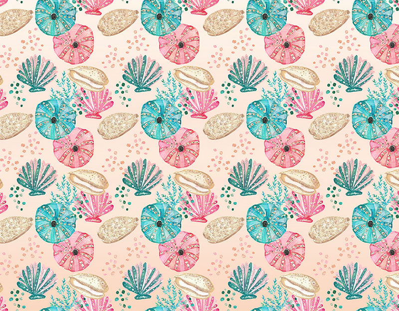 Scallop Jellyfish Background Pink Blue Backdrop