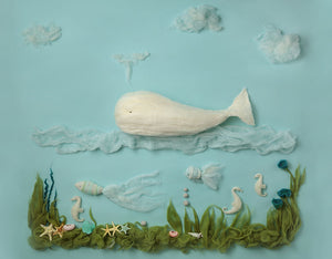 Undersea Shark Background Newborn Backdrop