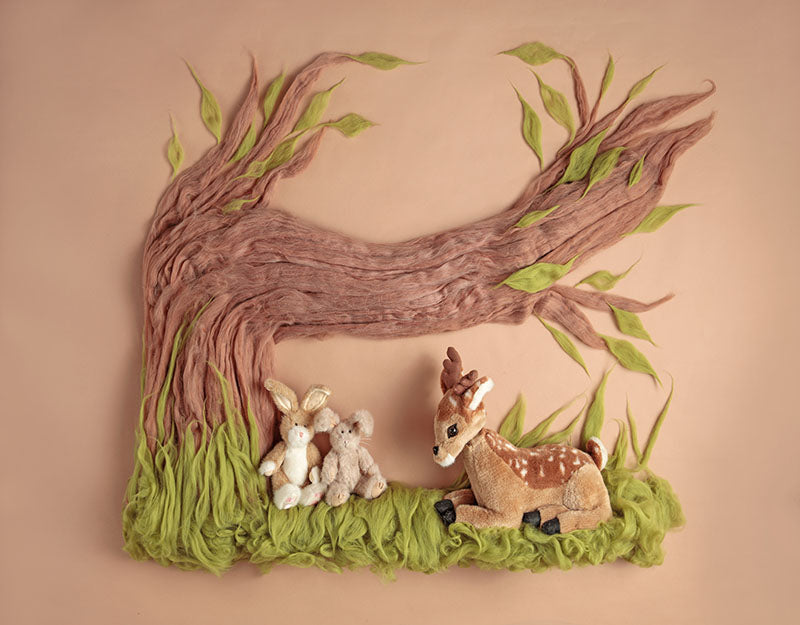 Tree Deer Background Newborn Backdrop