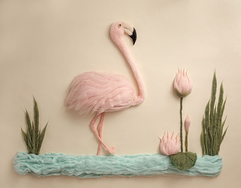 Light Pink Swan Background Newborn Backdrop