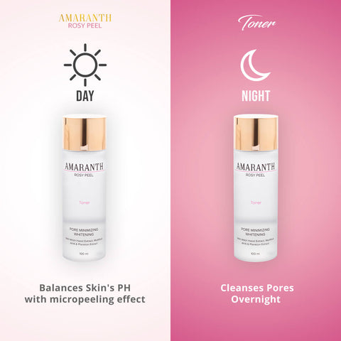 Amaranth Rosy Peel Toner + Rosy Peel Night Cream