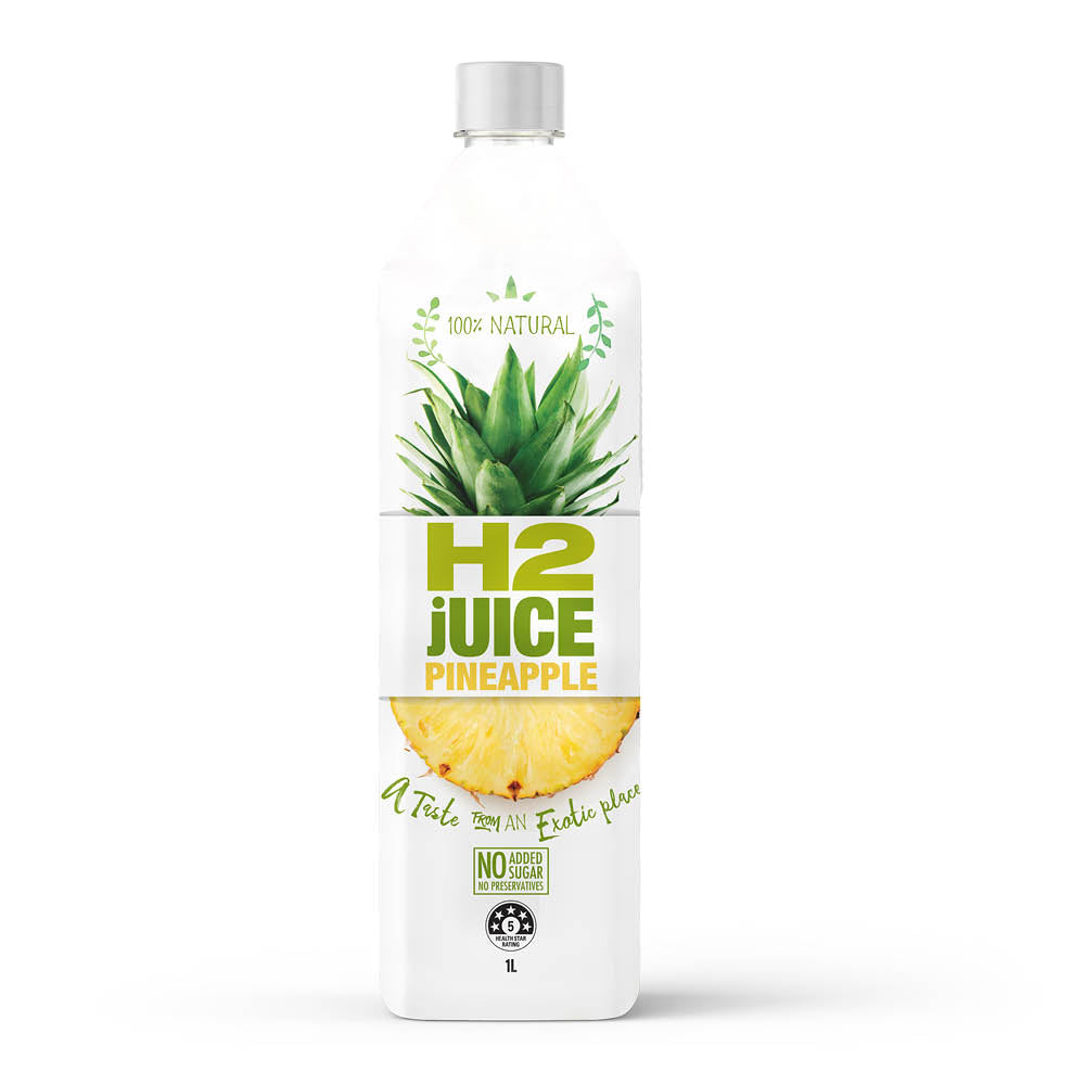 H2juice 100% Pineapple 1L x6