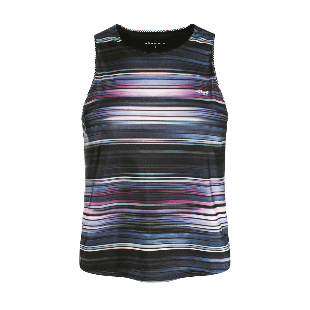 Rohnisch Aim High Singlet - Black/ Multi