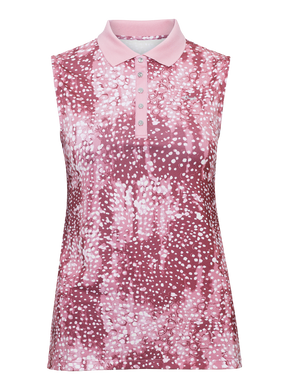 Rohnisch Dot Sleeveless Poloshirt - Pink Dot