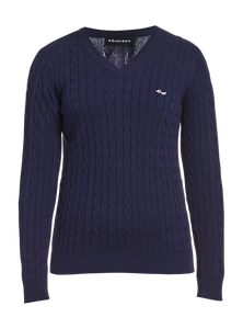 Rohnisch Cable Pullover - Navy Blue