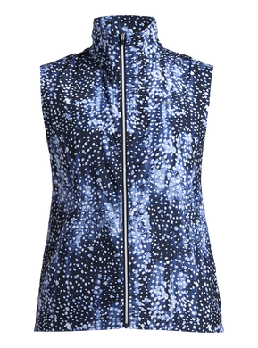 Rohnisch Pocket Wind Vest - Navy Dot