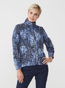 Rohnisch Pocket Wind Jacket - Navy Dot