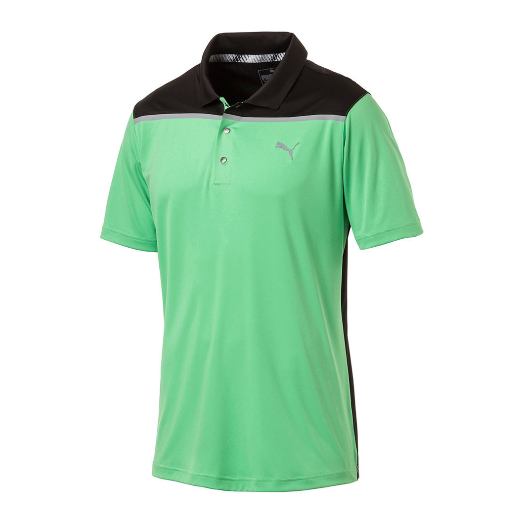 Puma  Colour Block Polo- Irish Green