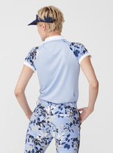 Rohnisch Block Leaf Poloshirt - Light Blue Leaves
