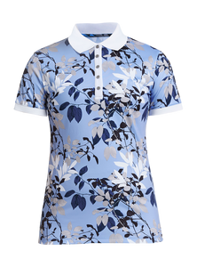 Rohnisch Leaf Poloshirt - Light Blue Leaves