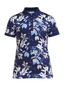 Rohnisch Leaf Poloshirt - Navy Leaves