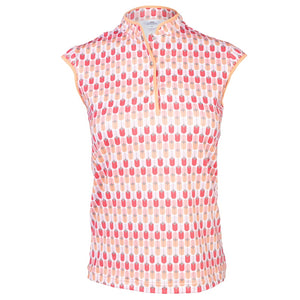 Daily Sports Lorin Cap Sleeve Polo - Amir Blossom