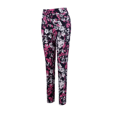 Callaway Ladies Floral Print Pull-On Trousers - Peacoat