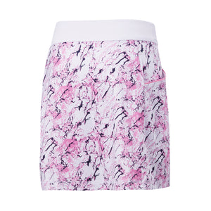 Callaway Ladies Liquid Pink Printed Skort - White