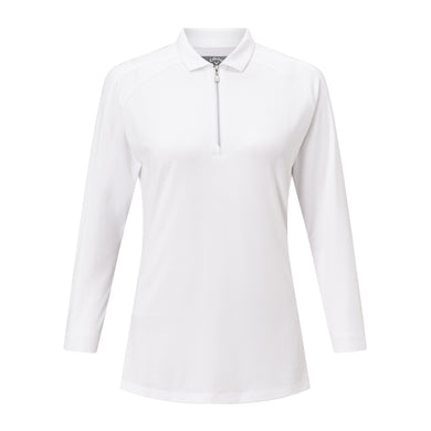 Callaway Ladies 3/4 Sleeve Jersey Top - White