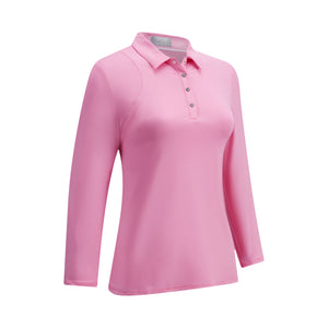 Callaway Ladies 3/4 Sleeve Jersey Top - Fuchsia Pink