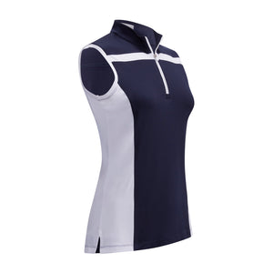Callaway Ladies SL 1/4 Zip Colour Block Top - Peacoat