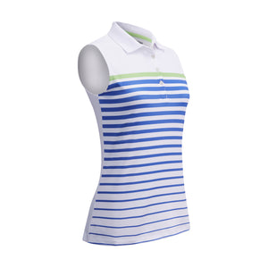 Callaway Ladies SL Engineered Stripe Polo - White