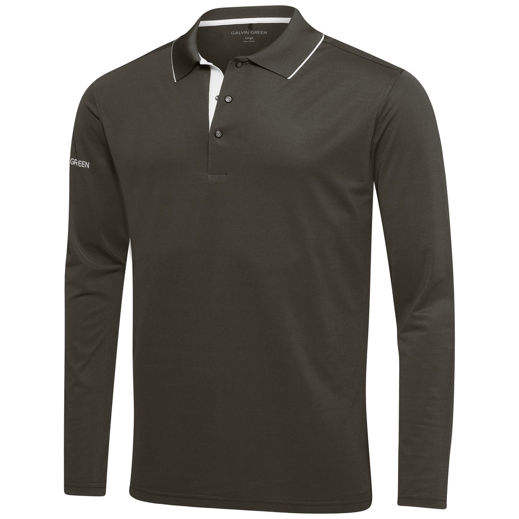 Galvin Green Marc Shirt V8+ LS - Beluga/Snow