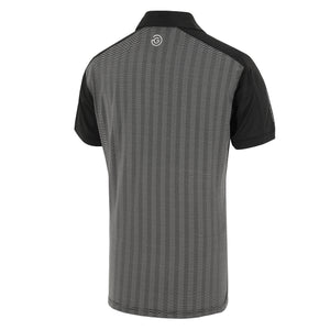 Galvin Green Mylo Golf Shirt - Carbon Black/Silver