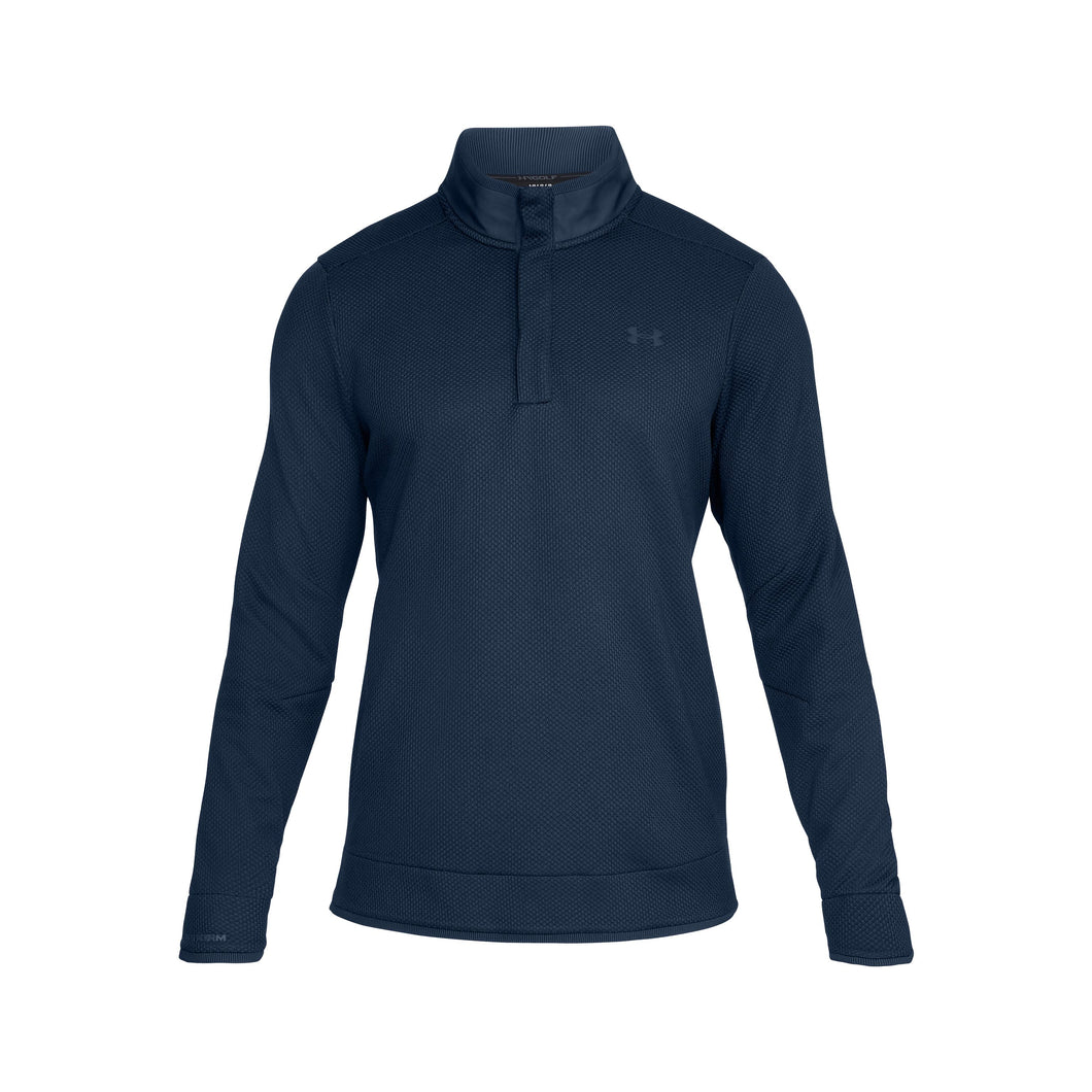 Under Armour Sweaterfleece Snap Mock - Navy