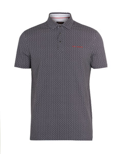 Ted Baker Wallnot Printed Polo - Navy